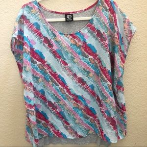 Bobeau layered top Size XL from Nordstrom colorful
